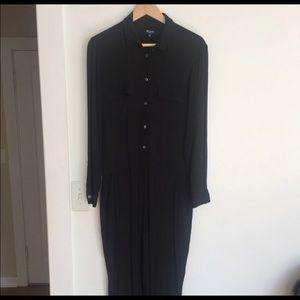 Madewell Collared Black Jumpsuit